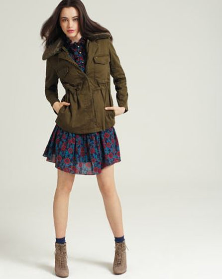 Marc by Marc Jacobs' duffle coat with <i>faux</i>-fur trim, $373.50 at bloomingdales.com.