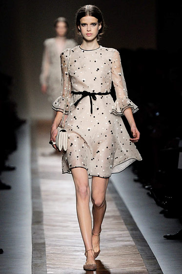 Opening the spring 2011 Valentino show in Paris.