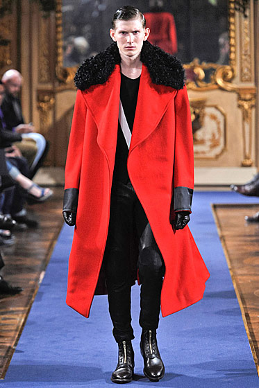 "See more from <a href=""http://nymag.com/fashion/fashionshows/2011/fall/main/europe/menrunway/alexandermcqueen/"">Alexander McQueen's Fall 2011 Menswear Collection</a>."