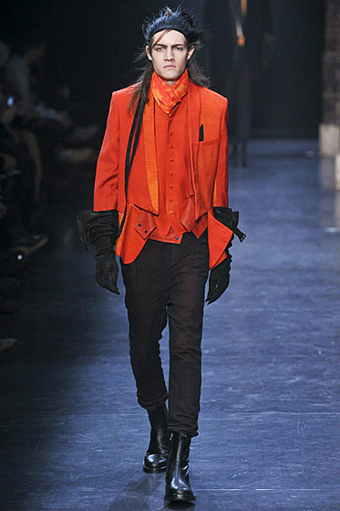 "See more from <a href=""http://nymag.com/fashion/fashionshows/2011/fall/main/europe/menrunway/anndemeulemeester/"">Ann Demeulemeester's Fall 2011 Menswear Collection</a>."