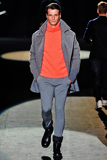 "See more from <a href=""http://nymag.com/fashion/fashionshows/2011/fall/main/europe/menrunway/dirkbikkembergs/"">Dirk Bikkemberg's Fall 2011 Menswear Collection</a>."