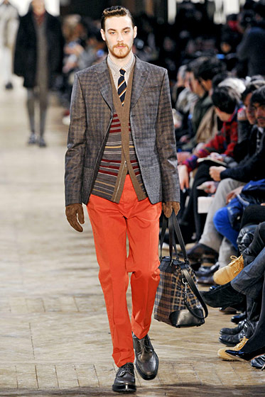 "See more from <a href=""http://nymag.com/fashion/fashionshows/2011/fall/main/europe/menrunway/kenzo/"">Kenzo Hommes' Fall 2011 Menswear Collection</a>."