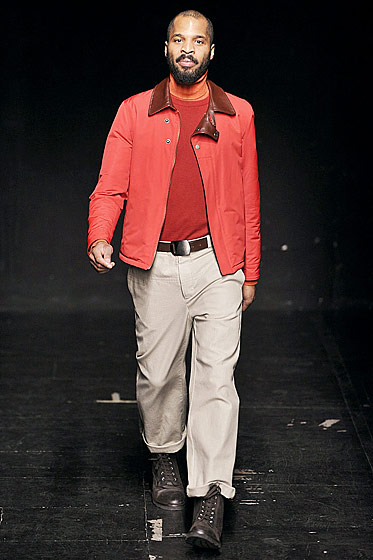 "See more from <a href""http://nymag.com/fashion/fashionshows/2011/fall/main/europe/menrunway/martinmargiela/"">Maison Martin Margiela's Fall 2011 Menswear Collection</a>."