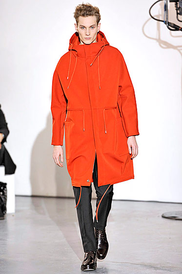 "See more from <a href=""http://nymag.com/fashion/fashionshows/2011/fall/main/europe/menrunway/rafsimons/"">Raf Simons's Fall 2011 Menswear Collection</a>."