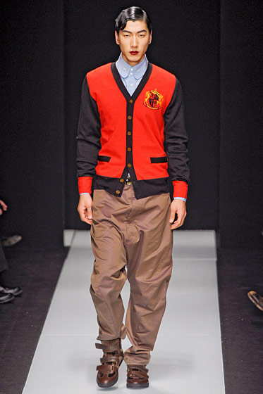 "See more from <a href=""http://nymag.com/fashion/fashionshows/2011/fall/main/europe/menrunway/viviennewestwood/"">Vivenne Westwood's Fall 2011 Menswear Collection</a>."