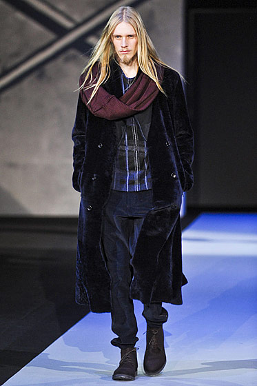 "See more from <a href=""http://nymag.com/fashion/fashionshows/2011/fall/main/europe/menrunway/emporioarmani/""Emporio Armani Fall 2011 Menswear</a>"