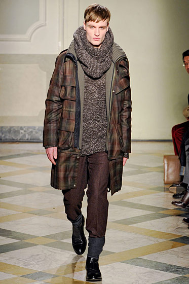 "See more from <a href=""http://nymag.com/fashion/fashionshows/2011/fall/main/europe/menrunway/pringleofscotland/"">Pringle of Scotland Fall 2011 Menswear</a>."