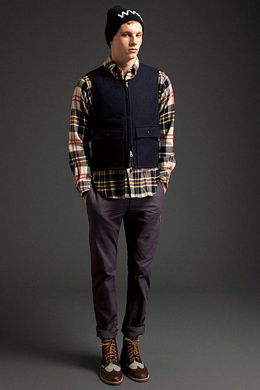 "See more from <a href=""http://nymag.com/fashion/fashionshows/2011/fall/main/europe/menrunway/woolrichwoolenmills/"">Woolrich Woolen Mills Fall 2011 Collection</a>."