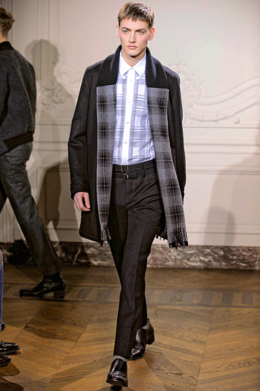 "See more from <a href=""http://nymag.com/fashion/fashionshows/2011/fall/main/europe/menrunway/yvessaintlaurent/"">Yves Saint Laurent Fall 2011 Menswear</a>."