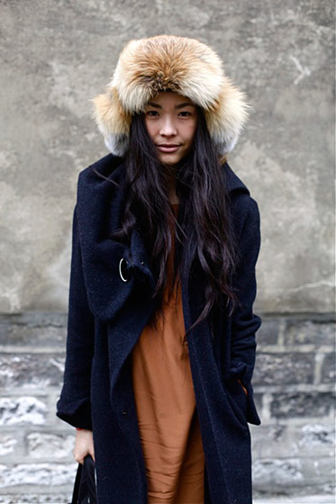 "Kamilya, shot in Paris by <a href=""http://blogs.lexpress.fr/cafe-mode/2011/01/26/stylees-a-froid/"">Cafe Mode</a>."