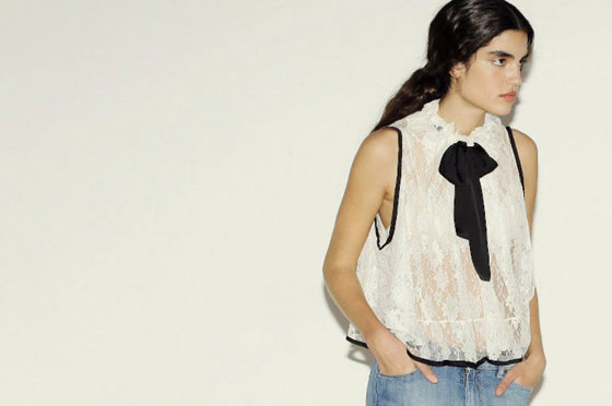 Lace top, $99.