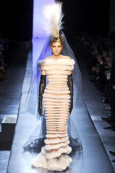 Closing the spring Jean-Paul Gaultier couture show in Paris.
