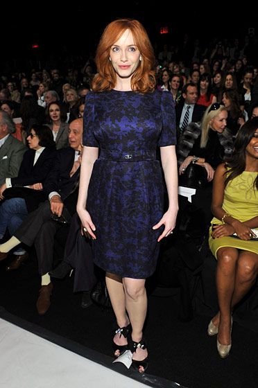 "It may not surprise you that Christina Hendricks is quite pretty in person, but it should surprise you that she was <a href=""http://nymag.com/daily/fashion/2011/02/fugs_carolina_herrera_tk.html"">beautifully dressed</a>. Thanks, Carolina Herrera, for showing the other designer whiners that dressing a celebrity who isn't sample size can be done."