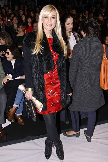 "When we were at Carolina Herrera on Monday morning, we saw a PR girl say to Tinsley Mortimer, ""Oh, I guess we can find you a seat."" Considering that, three years ago, the mere appearance of the Tinz would have kicked off an orgy of flashbulbs, this unenthusiastic response seems like a bad omen as it relates to the relevance of Tinsley and her ilk. Thank God."