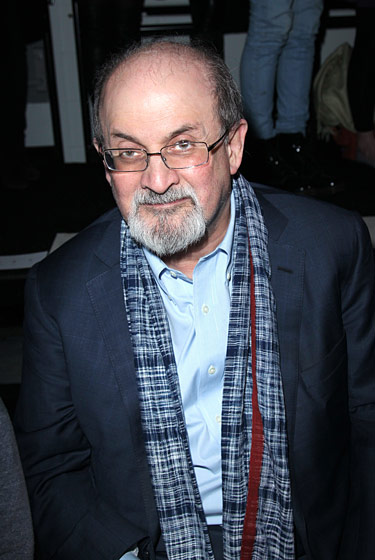 "At 2:30 p.m., we were <a href=""http://nymag.com/daily/fashion/2011/02/the_fug_girls_chatting_up_salm.html"">shoving a tape recorder in Salman Rushdie's face</a> and trying (and possibly failing) not to sound moronic. By 7:30, we had just finished interviewing Aubrey O'Day and were getting accidental glimpses of Amanda Lepore's nether regions. That's such a tumble that our ears actually popped."