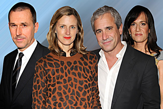 Movements of the new team at Barneys (from left: CEO Mark Lee, chief women's merchant Daniella Vitale, creative director Dennis Freedman, and fashion director Amanda Brooks) will be closely tracked this week as the fashion crew tries to divine more details of the retailer's future.