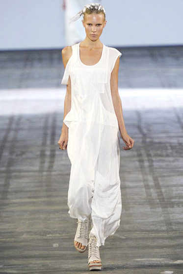 Opening for Alexander Wang's spring 2011 show in New York.