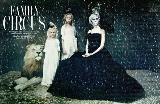 Shot by Paolo Roversi for <i>W</i> magazine.