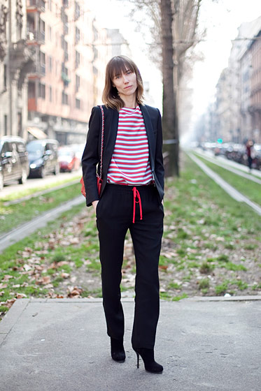 Anya Ziourova, stylist, from New York and London.