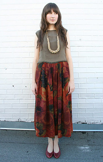 "Ashley Oh, shot in San Francisco for <a href=""http://www.chictopia.com/photo/show/397783-long+lengths-vintage-blouse-vintage-skirt-vintage-flats"">Chictopia</a>."