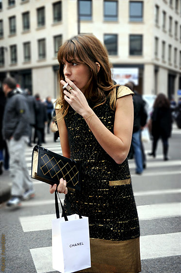 "Lou Doillon, shot in Paris by <a href=""http://easyfashion.blogspot.com/2011/01/lou-doillon-paris-fashion-week.html"">Easy Fashion</a>."