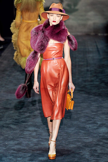 "See the <a href=""http://nymag.com/fashion/fashionshows/2011/fall/main/europe/womenrunway/gucci/"">complete fall 2011 Gucci collection</a>."