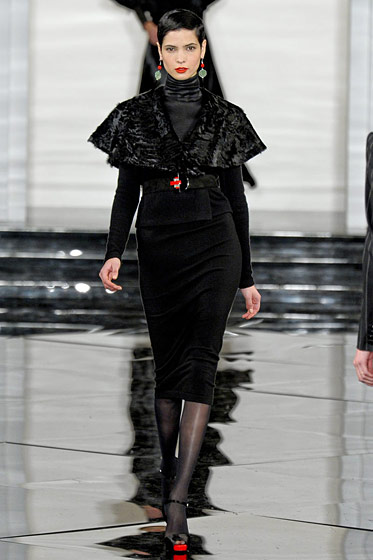 "See the <a href=""http://nymag.com/fashion/fashionshows/2011/fall/main/newyork/womenrunway/ralphlauren/"">complete fall 2011 Ralph Lauren collection</a>."