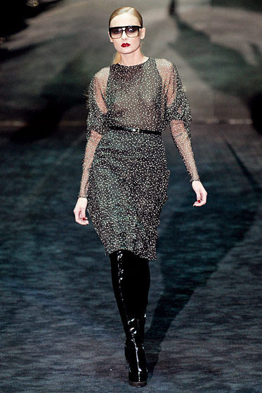 "See the complete <a href=""http://nymag.com/fashion/fashionshows/2011/fall/main/europe/womenrunway/gucci/"">Gucci fall 2011 collection</a>."