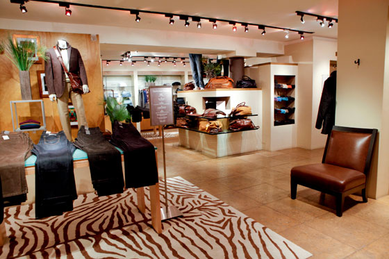 """Where else could a gentleman try on $1,450 green crocodile Car Shoes while downing a shot of Cuervo and listening to ""Get Off"" by Foxy? …I have never known a man wealthy enough to get away with a lavender V-neck sweater tucked into white twill flat-fronts, a canary yellow ascot and no belt—but then, I never played badminton with Claus von Bulow or attended the Brooke Astor trial."" <br>—Wilkes Bashford, December 31, 2009 [<a href=""http://www.nytimes.com/2009/12/31/fashion/31CRITIC.html?scp=1&sq=%22cintra%20wilson%22%20%22Wilkes%20Bashford%22&st=cse"">The Man Stays in the Game</a>]"