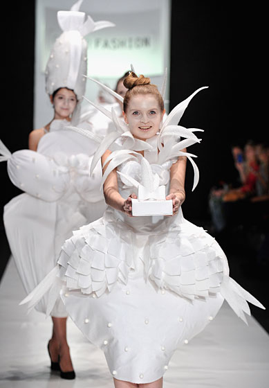 A design by Venera Kazarova, in the ContrFashion show.