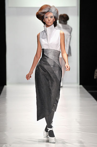 A design by Mariya Tsuman, in the ContrFashion show.