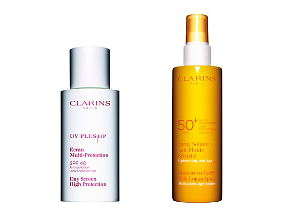 As tempting as it may be to lay out for a bit of color, sunscreen is especially important on winter-pale skin. The Clarins UV Plus HP SPF 40 Day Screen is odorless and lightweight for the face, absorbing into skin quickly although drying slightly sticky. The Clarins Sunscreen Care Milk Lotion SPF 50+ kept skin moisturized and protected. Clarins UV Plus HP SPF 40 Day Screen, $38.00 and Clarins Sunscreen Care Milk Lotion SPF 50+, $32.00 are both available at Clarins.com.