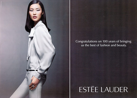 The face of Estée Lauder, spring 2011. Photographed by Craig McDean.