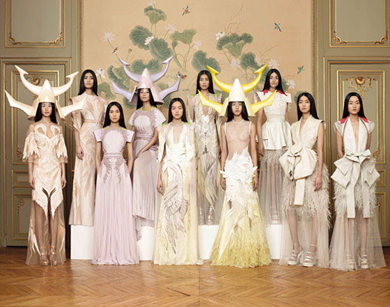 Givenchy couture's spring 2011 all-Asian cast.