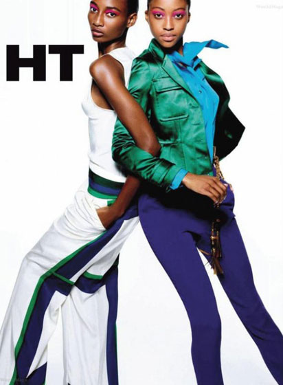 "With <a href=""http://nymag.com/fashion/models/smoulton/shenamoulton/"">Shena Moulton</a> in a <em>Harper's Bazaar</em> editorial, March 2011."