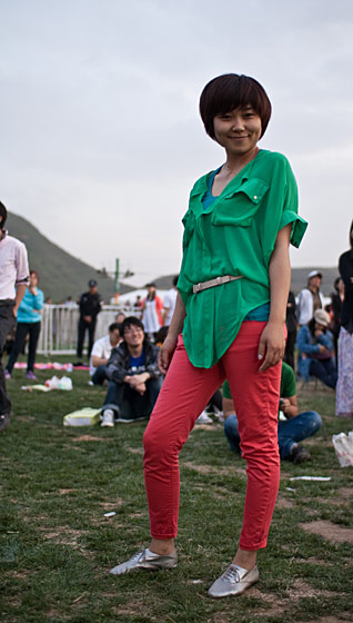 "An unidentified woman, shot in Beijing by <a href=""http://www.stylites.net/2011/05/02/at-pinggu-festival/"">Stylites</a>."