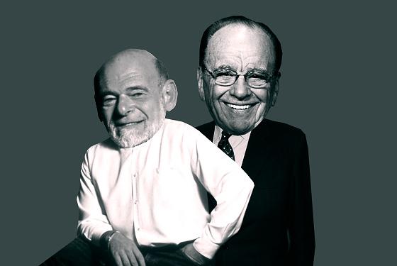 Sam Zell and Rupert Murdoch