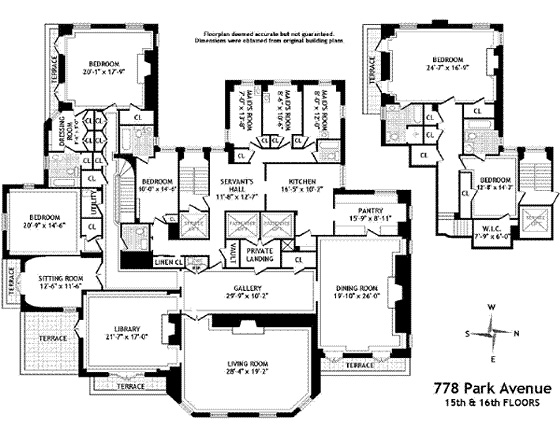 Brooke Astor's floorplan