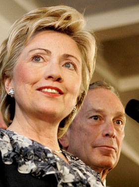 Hillary Clinton Mayor Bloomberg