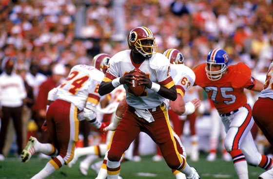 Super Bowl XXII (Washington Redskins 42, Denver Broncos 10): Doug Williams is an African-American icon after becoming the first black quarterback to start, and win, a Super Bowl, in this dominating Redskins victory. (Nobody tell Rush Limbaugh.) After the game, <i>The Wonder Years</i> debuts, and Kevin Arnold finally kisses a girl.