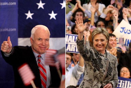 Hillary and McCain
