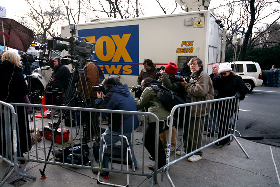 The Press Outside Spitzer's Apartment