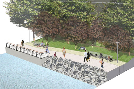 Beware of riprap in greenpoint and williamsburg for Waterfront landscape design