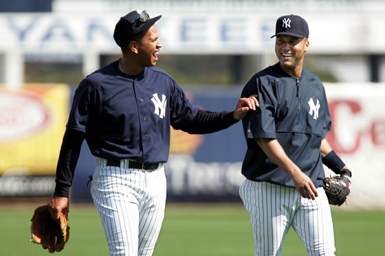 derek jeter yankees. Rodriguez and Jeter