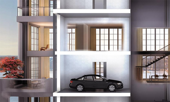West Chelsea Car Elevator Apartments Going Down