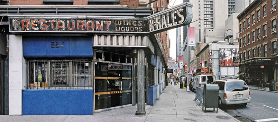 When this place on 46th Street and 8th Avenue closed a couple of years ago, a big chunk of New York's soul went with it. It had beautiful, perfect little booths, and waitresses who seemed like they were born there.
