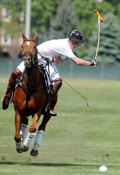 Bet you didn't know princes can make horses fly! (Kidding, of course. It's obviously the horse's magical American Apparel kneesocks that are giving him the extra lift.)