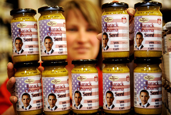 This is, if you can believe it, Obama spicy mustard.