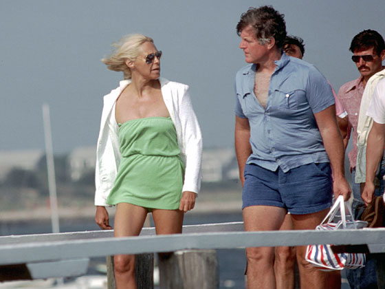 "When this scantily clad couple strolled around Hyannis Port in June of 1980, only the tautness of Ted's T-shirt hinted <a href=""http://www.dietician.net/wp-content/uploads/2008/05/fat-ted-kennedy.jpg"">what was to come</a>."