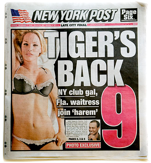 "Another blonde aspiring model. Rist, a 31-year-old with a <a href=""http://www.nydailynews.com/gossip/2009/12/08/2009-12-08_ny_sugar_daddys_100g_gift_to_tigers_gal_cori.html"">sugar daddy</a>, met Tiger at Butter in New York. ""One thing led to another,"" a source told the <em>Daily News</em>, pretty soon, Tiger was flying her to hook up with him on tour.""<br/>